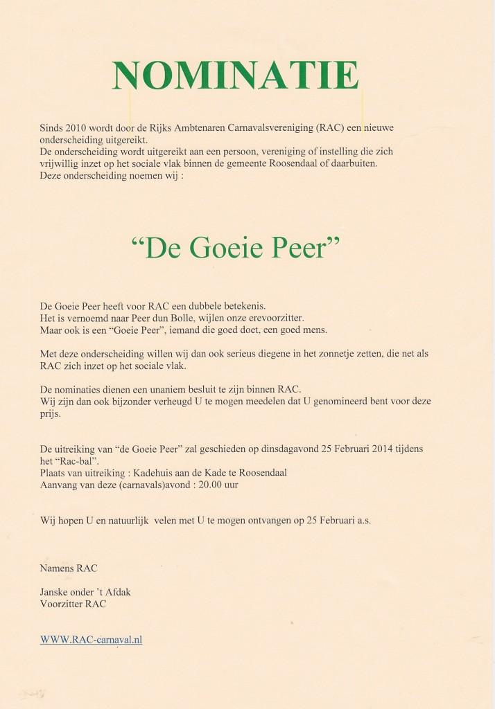 Nominatie De Goeie Peer